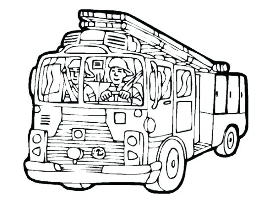 550x412 Free Fire Truck Coloring Pages To Print 19 As Well As Fire Engine