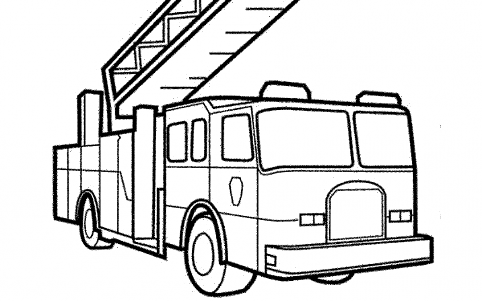 1680x1050 Free Printable Fire Truck Coloring Pages General Easy For Kids