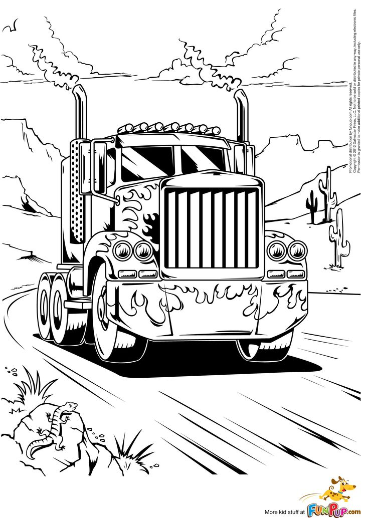 736x1034 Kw Semi Truck Coloring Pages Monster Truck Coloring Pages