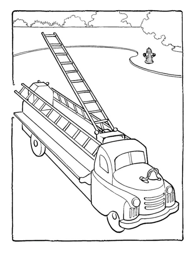 622x820 Best Firetruck Coloring Page Ideas On Firefighter