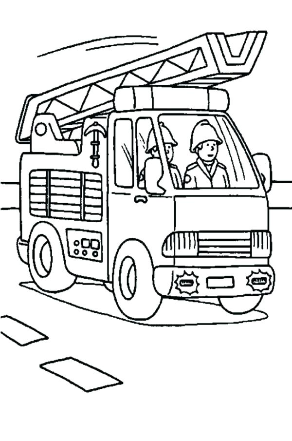 600x905 Best Fire Truck Coloring Page Print Is On The Way Colouring
