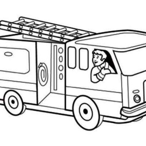 300x300 Fire Truck Coloring Page Free Download