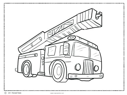 432x324 Firetruck Color Page Fire Truck Coloring Page Fire Engine