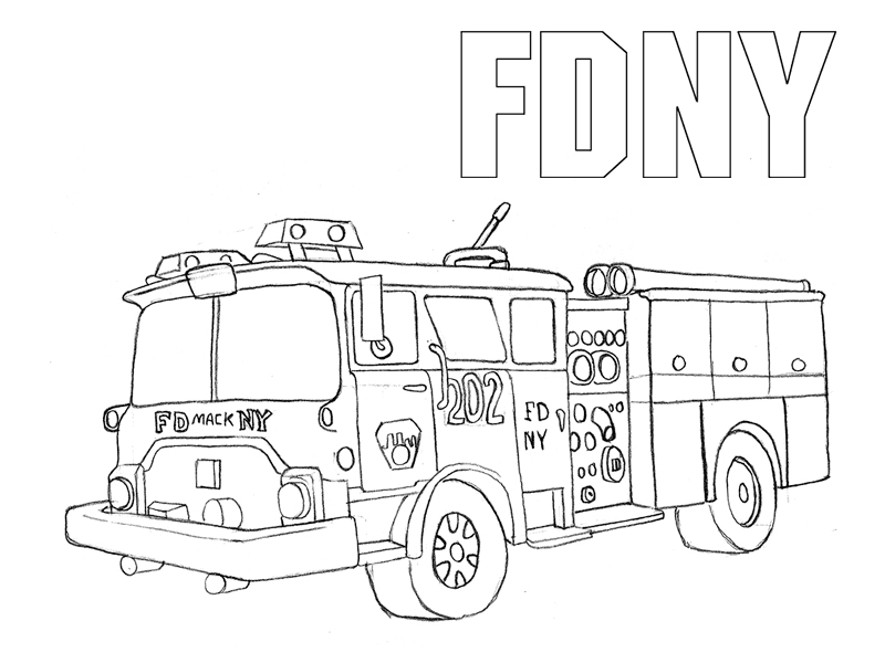 800x600 Truck Coloring Pages