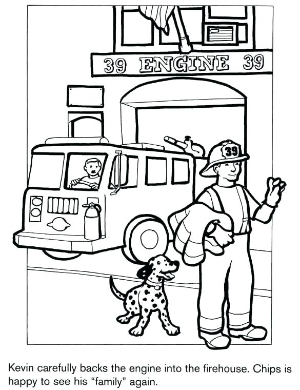 585x760 Epic Fire Truck Coloring Pages To Print Trucks Big Monster