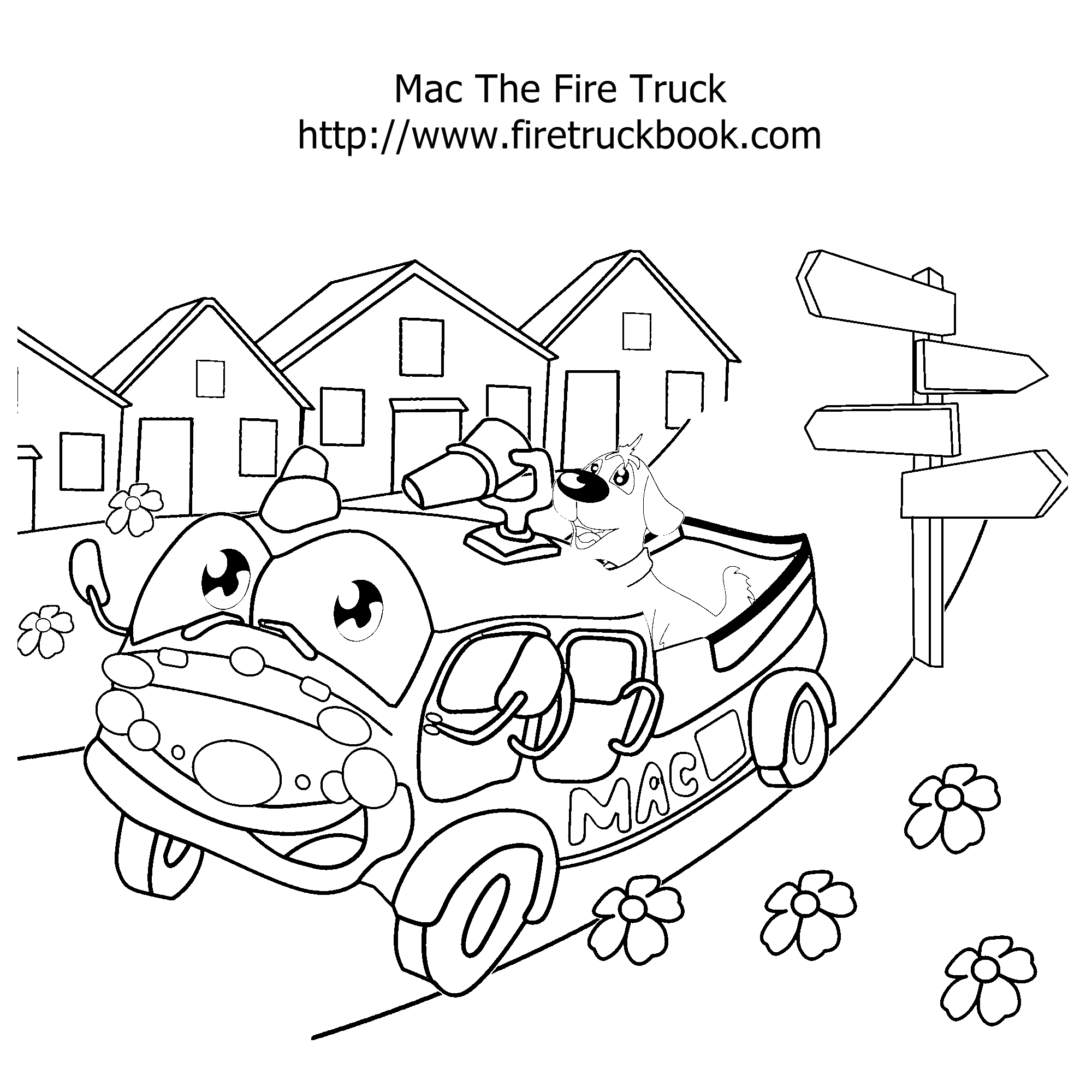 2000x2000 Fire Truck Coloring Pages Fire Truck Book