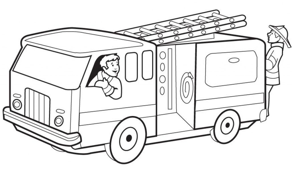 1024x600 Fire Truck Coloring Pictures Many Interesting Cliparts