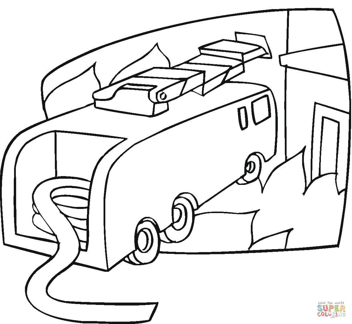 1200x1104 Fire Truck Is Ready Coloring Page Free Printable Coloring Pages