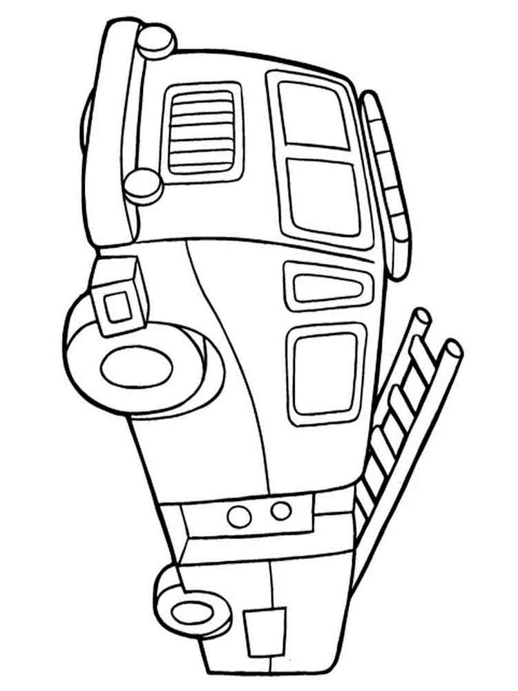 750x1000 Fire Truck Coloring Pages. Download And Print Fire Truck Coloring