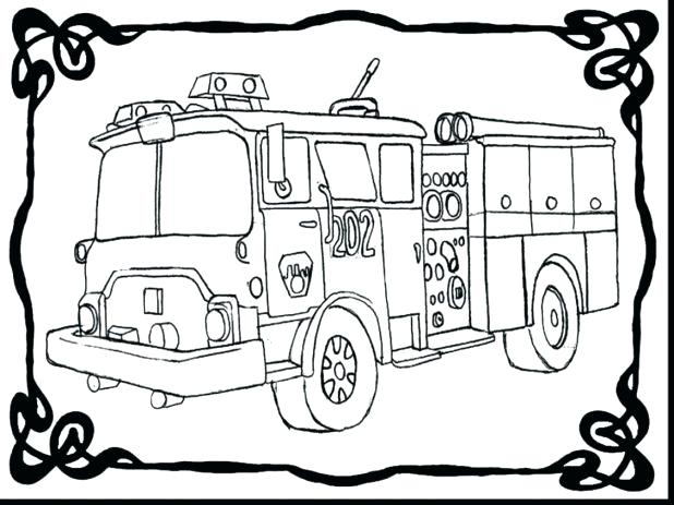 618x463 Free Fire Truck Coloring Pages Printable Appealing Fire Truck