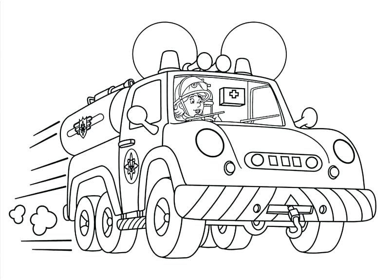 805x575 Free Fire Truck Coloring Pages To Print Awesome Fire Truck