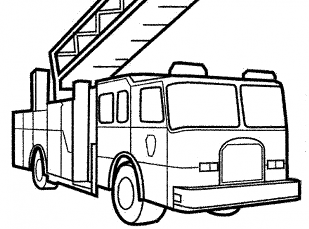 1080x800 Free Printable Fire Truck Coloring Pages General Easy For Kids