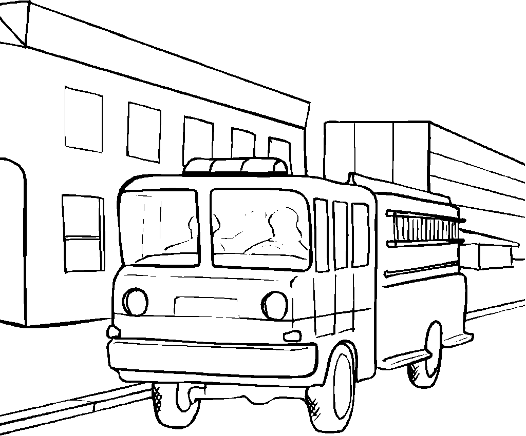 1024x850 Free Coloring Pages Trucks