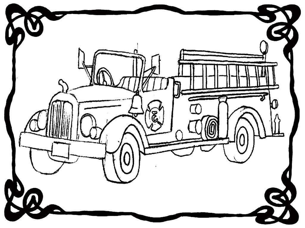 1024x768 Great Fire Truck Coloring Pages Wall Picture Unknown Resolutions