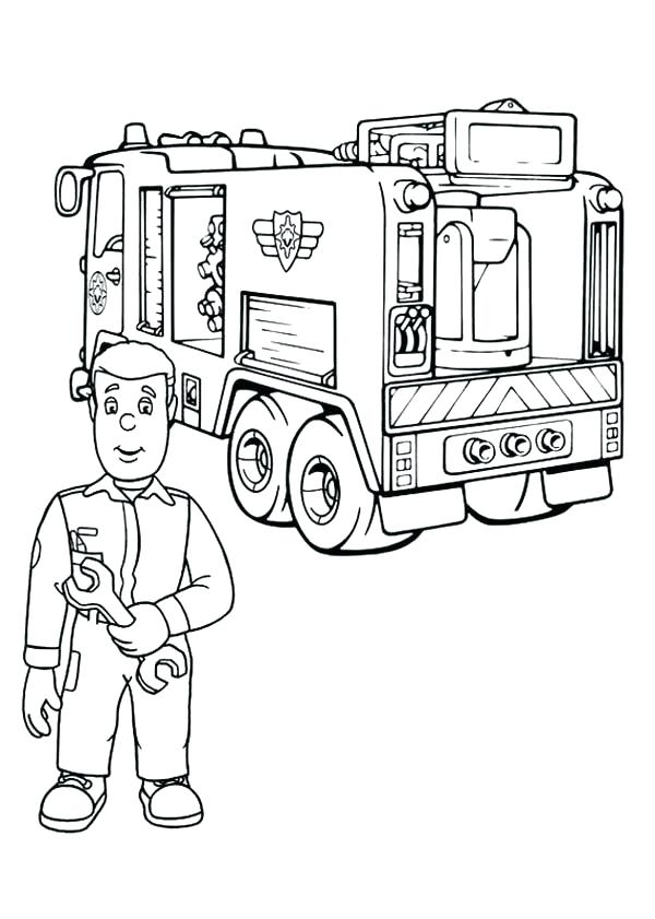 600x841 Pretty Firetruck Coloring Page New Fire Truck Pages Fireman