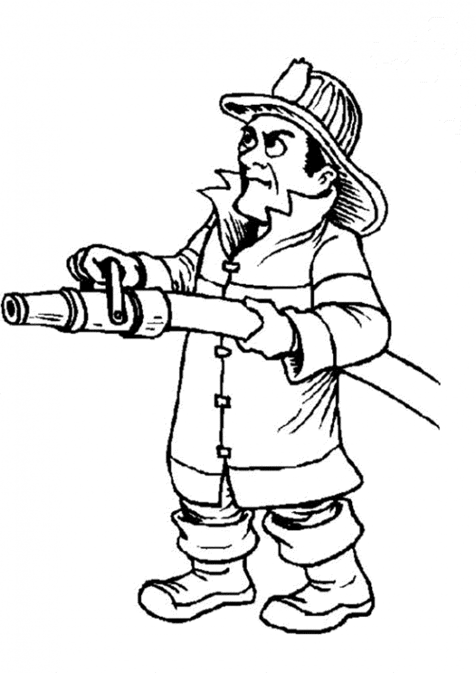 970x1372 Coloring Extraordinary Fireman Fire Truck Coloring Pages