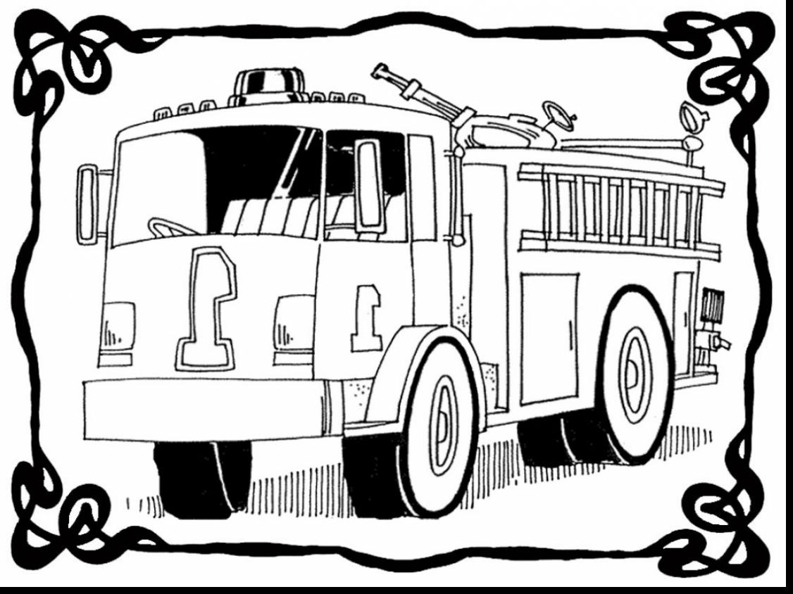 1126x844 Printable Fire Truck Coloring Page
