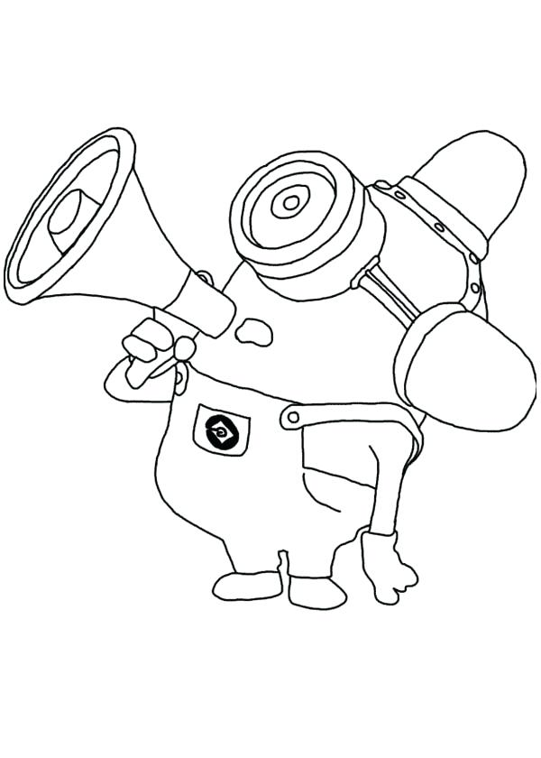 600x840 Despicable Me Coloring Book Mimicking Fire Truck Siren