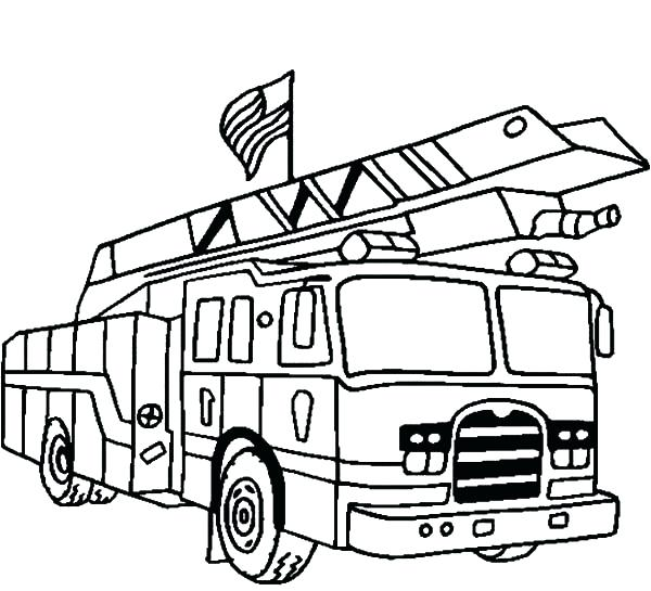 600x545 Fire Trucks Coloring Pages 61 Together With Best Fire Truck