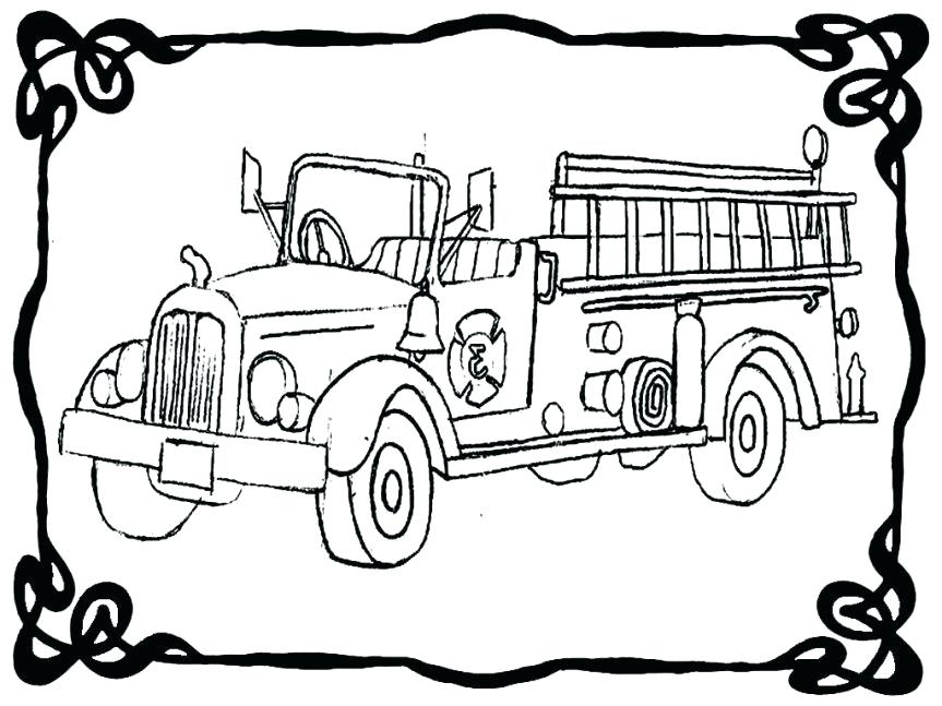 863x647 Free Fire Truck Coloring Pages Printable