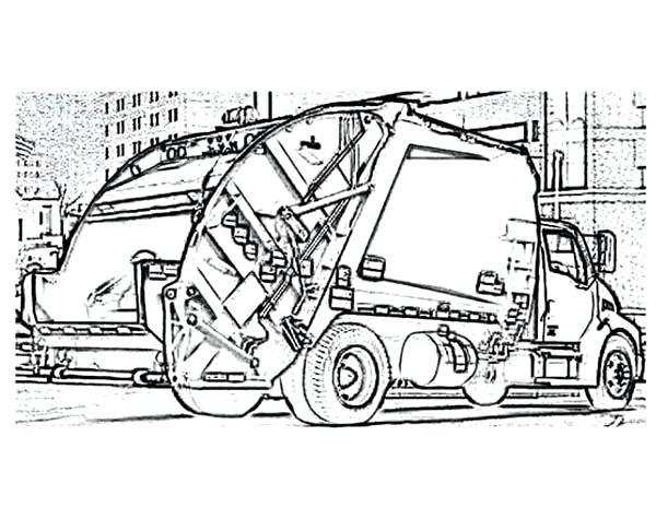 600x464 Garbage Truck Coloring Page Garbage Truck Front Loader Garbage