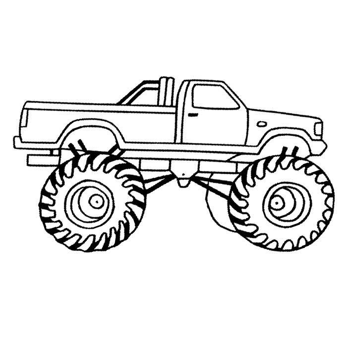 700x700 Monster Truck And Trailer Coloring Page Pick Up Truck And Trailer