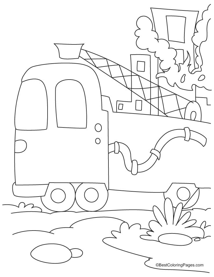 738x954 Pictures Of Fire Trucks To Color 373330