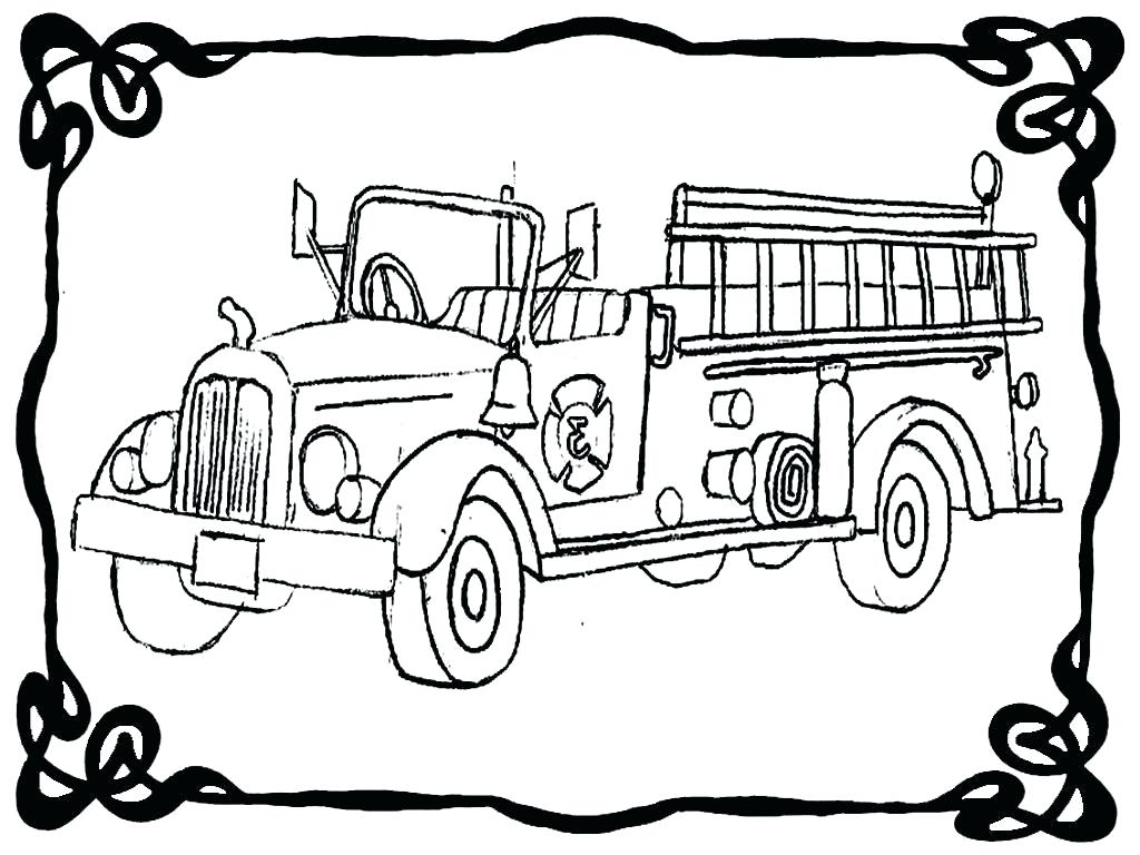 1024x768 Coloring Fire Trucks Coloring Pages Great Truck Wall Picture Pdf