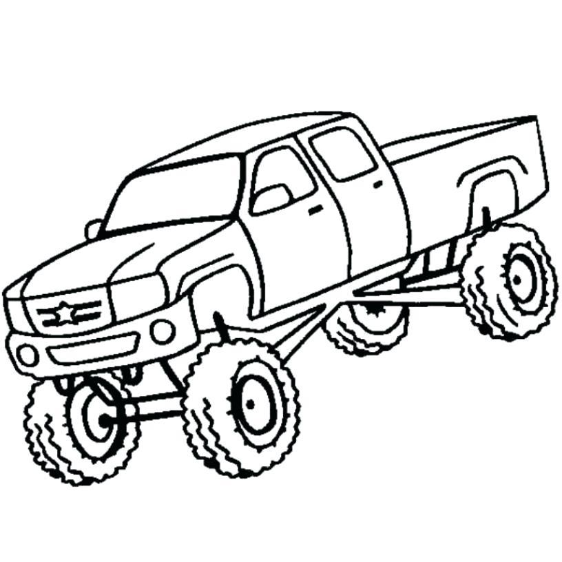 816x816 Truck Coloring Picture Convobox.co