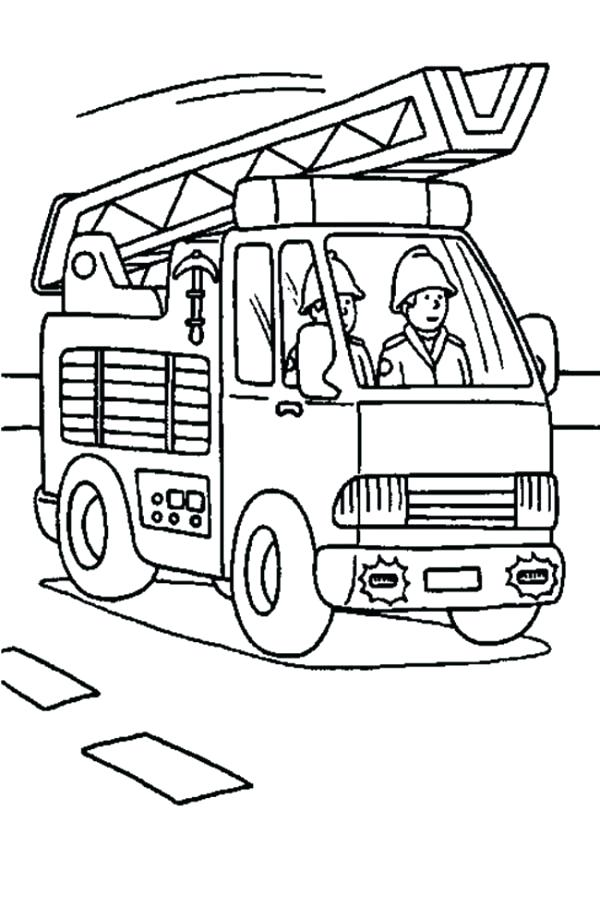 600x905 Coloring Page Fire Truck Free Pages Of Trucks