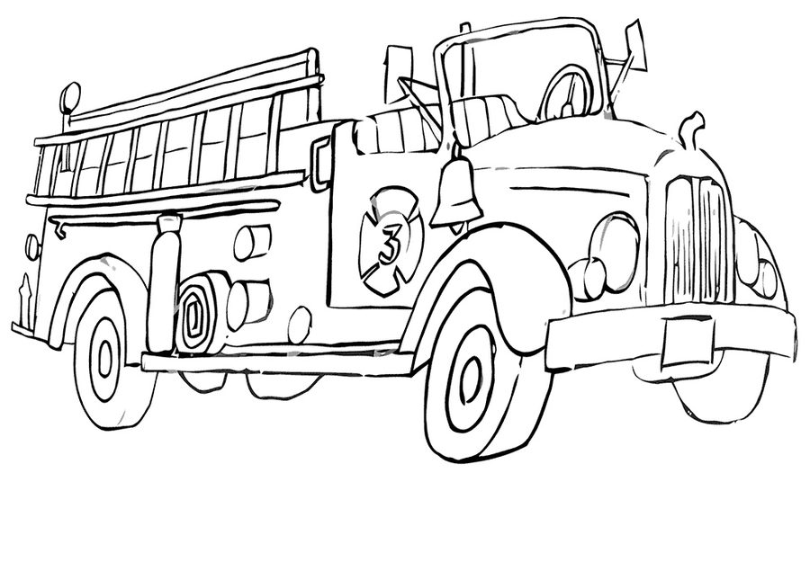 900x635 Coloring Pages Fire Trucks, Printable For Kids Amp Adults, Free