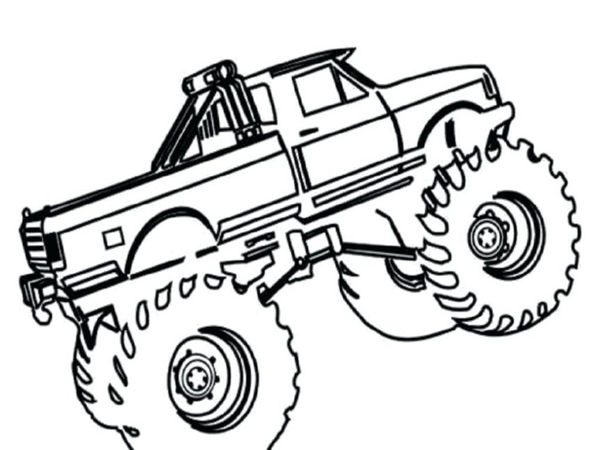 863x647 Draw Monster Trucks Coloring Pages On Decoration Pictures Garbage