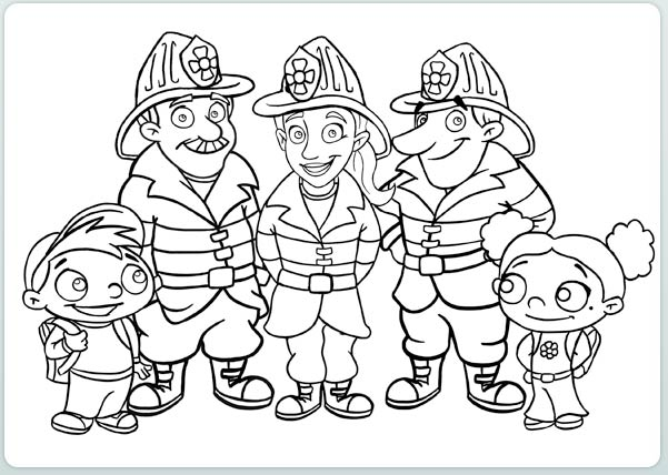 firefighter heroes coloring pages - photo#8