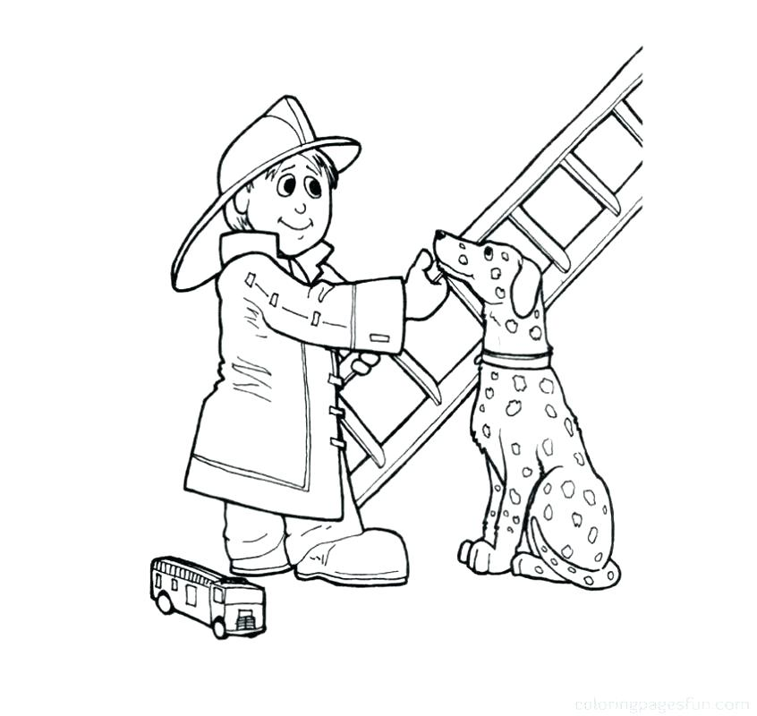 846x800 Firefighter Coloring Pages Printable Fireman Coloring Pages