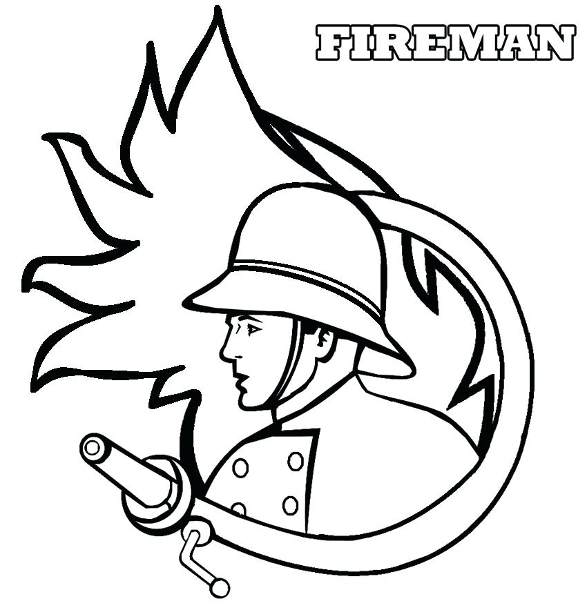 850x884 Fireman Hat Coloring Page Fireman Coloring Pages Firefighter