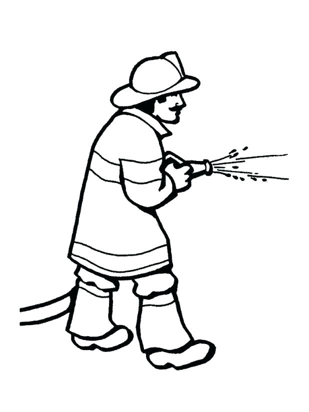 618x824 Fireman Hat Coloring Page Full Size Of A Book Coloring Book