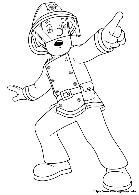 567x794 Fireman Sam Coloring Picture Fireman Sam Party