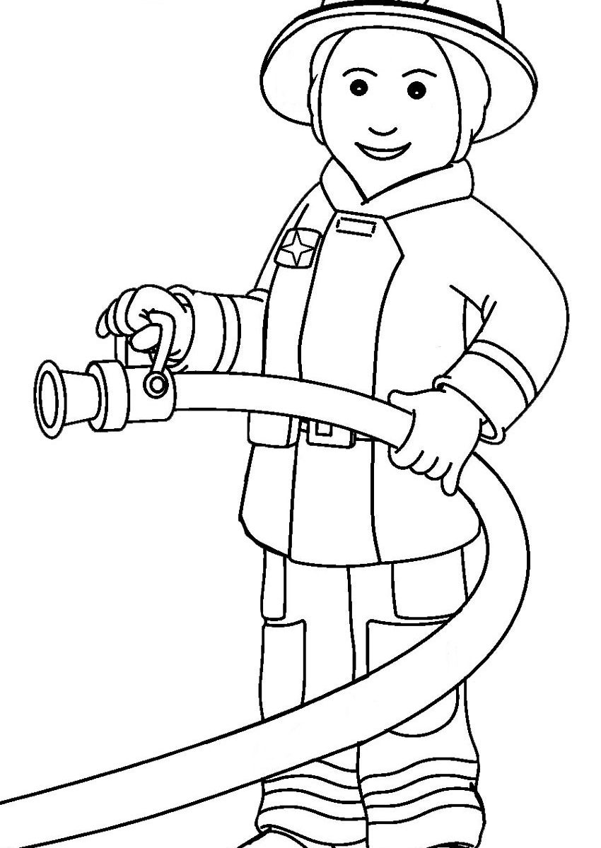 Firefighter Cartoon Drawing at