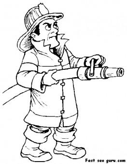 263x338 Printable Fireman Sam Coloring Page