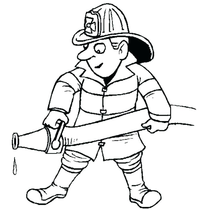 728x728 Firefighter Hat Coloring Page