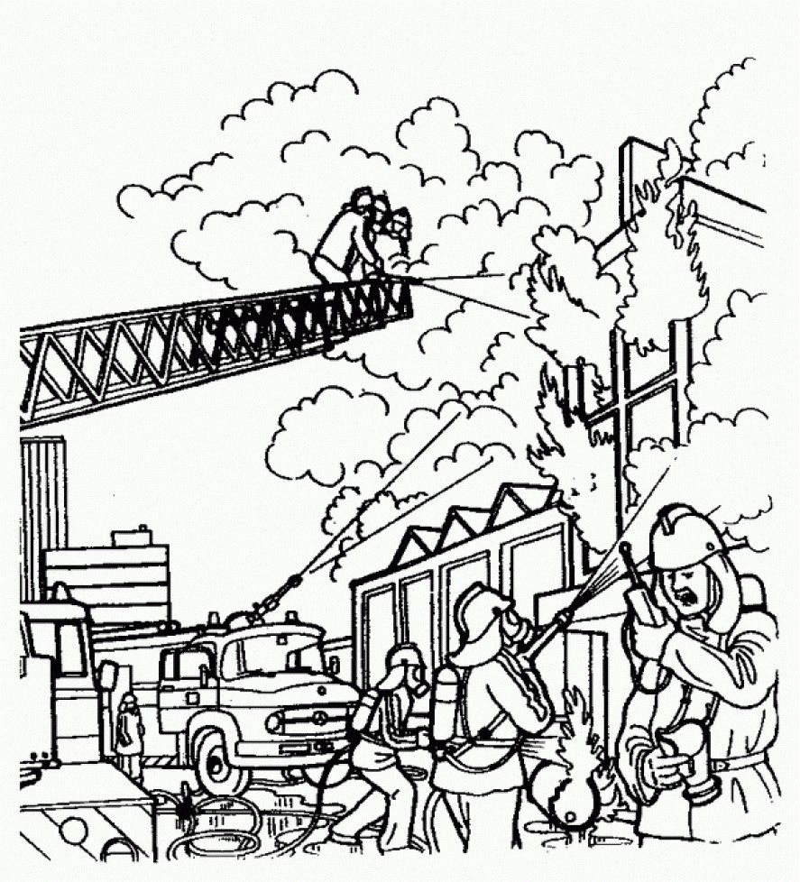 887x978 Firefighter Coloring Pages Kindergarten Copy Activity Fireman