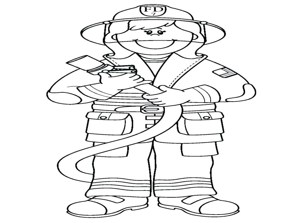 945x709 Firefighter Coloring Pages Printable Fireman Printable Coloring