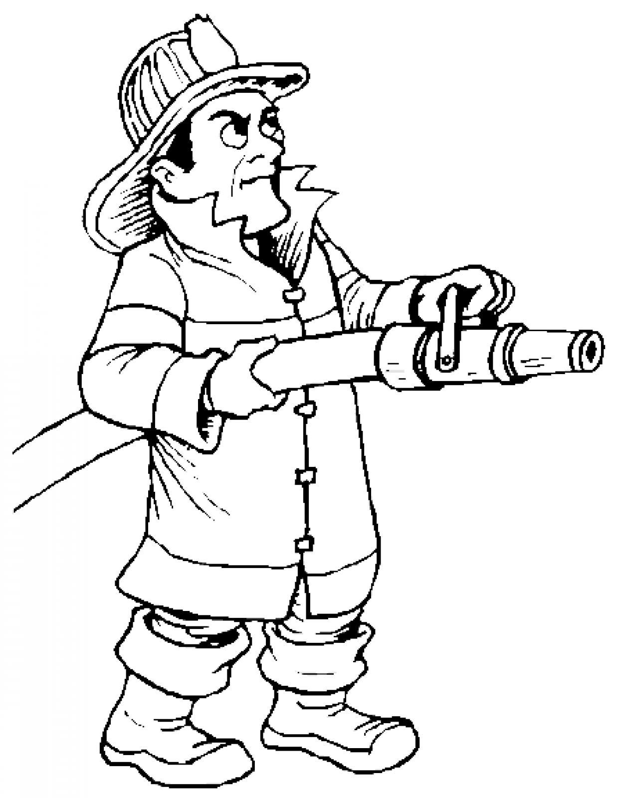 1241x1600 Firefighter Cartoon Fire Fighter Clip Art