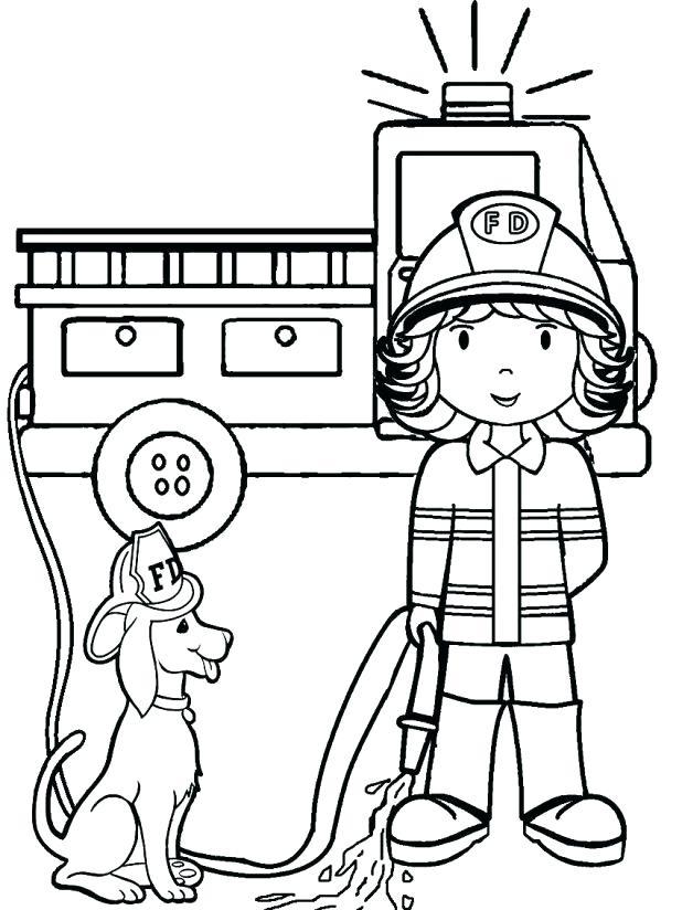 618x824 Fireman Coloring Page Fireman Coloring Pages Preschool Stunning