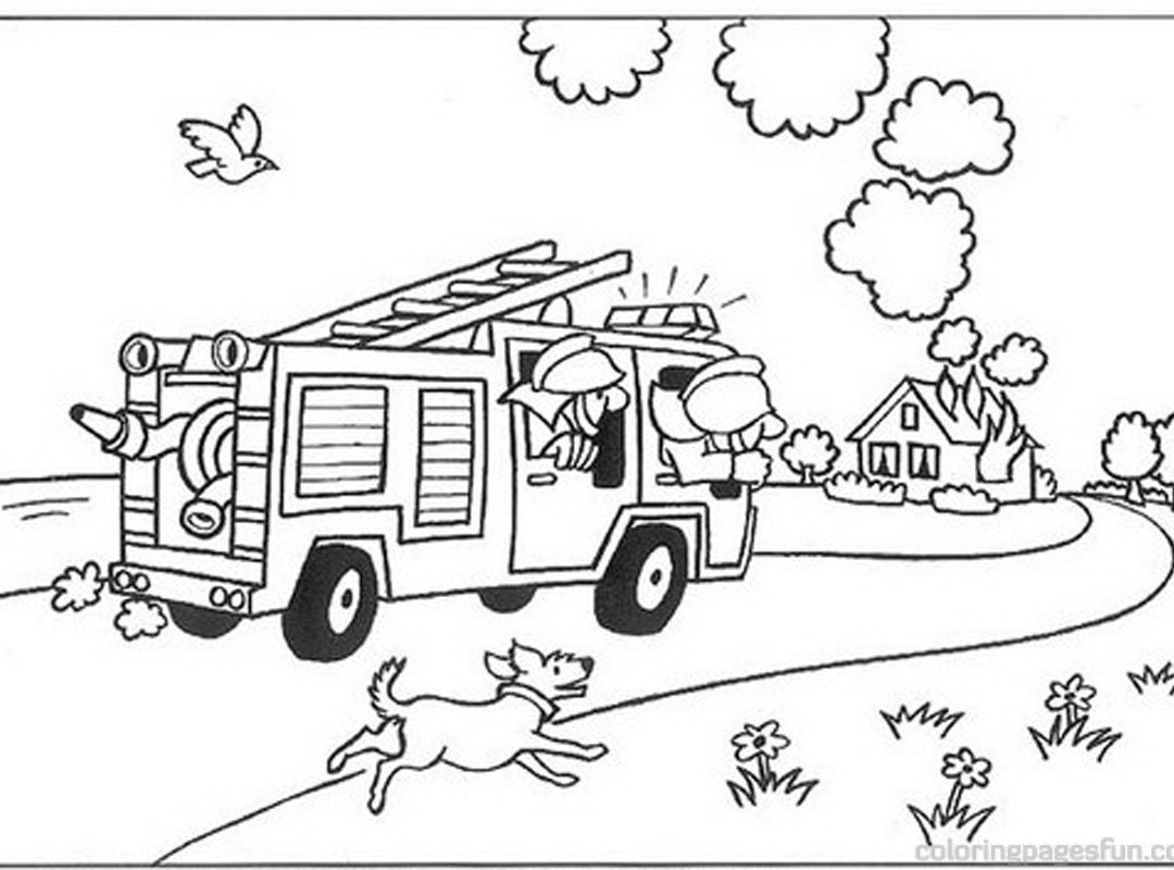 1080x800 Great Fireman Pictures To Color Coloring Pages Or Firefighter Free