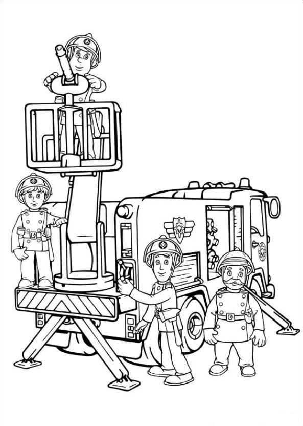 593x832 Kids N 38 Coloring Pages Of Fireman Sam