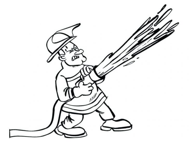 728x546 Fire Dept Coloring Pages Minions Online Firefighter Color