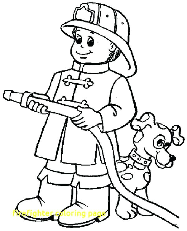 600x741 Fire Fighter Coloring Pages Firefighter Coloring Page With Fireman