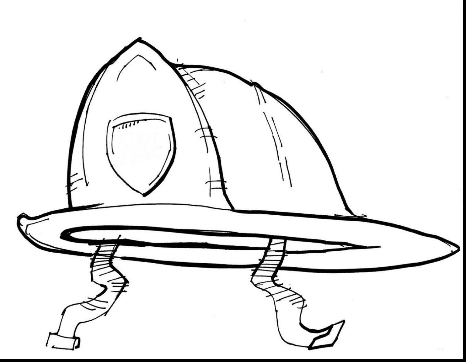 1485x1155 Fireman Hat Coloring Page Fireman's Hat Coloring Page