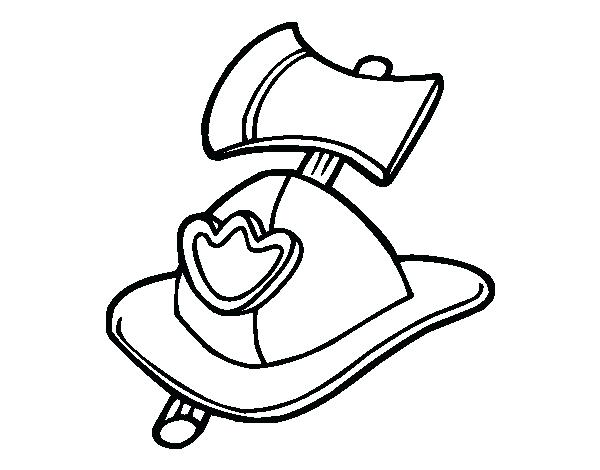 600x470 Fireman Hat Coloring Page Fireman Helmet And Axe Coloring Page